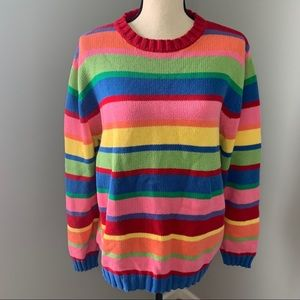 APPLESEEDS | Colorful Striped Knit Sweater